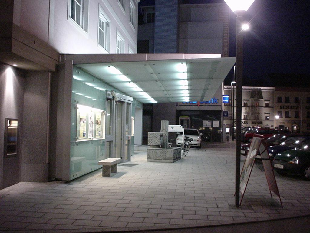 Volksbank Eingangsbereich